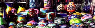 colorful pottery cancun yucatan mexico